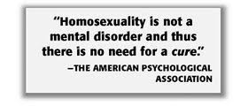 Homosexuality no longer considered mental illness