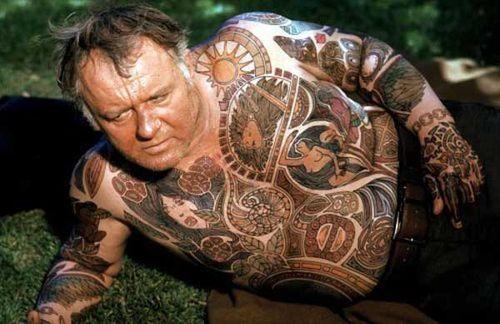 Tattoo illustrated man