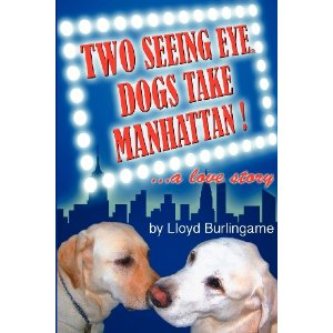 Two seeing eye dogs