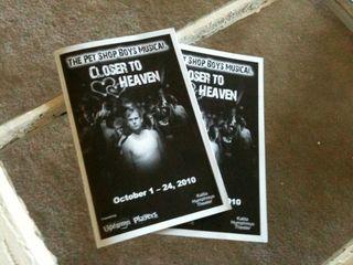 Closer To Heaven Pet Shop Boys Dallas program