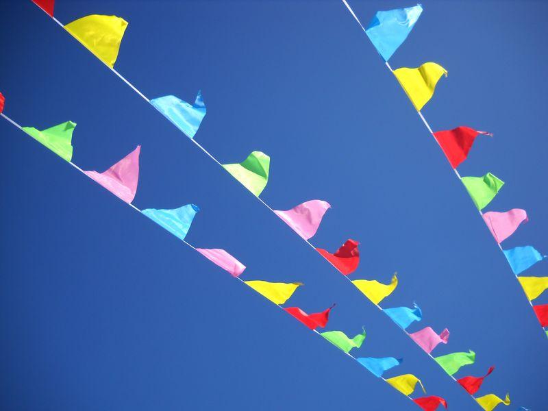 Flags_sayville_parking_lot