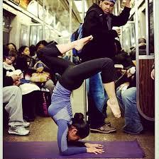 Subway yoga