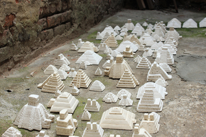Liene+Bosque +Prehispanic+City +2014 +Plaster +160+x+60+x+5in+(2)_low