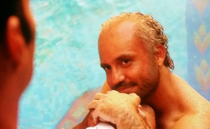 Versace in swimming pool