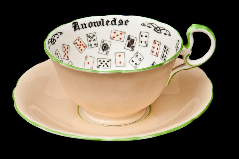 Tea leaf reading cup