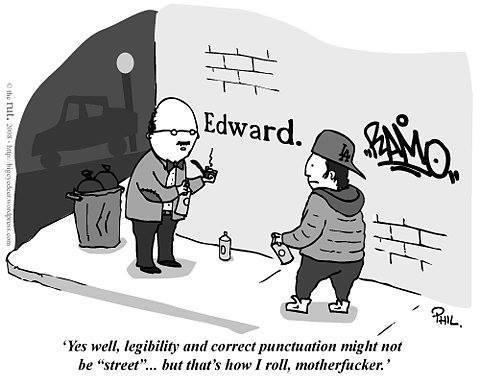 Street art legibility
