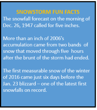 Snowstorm fun facts