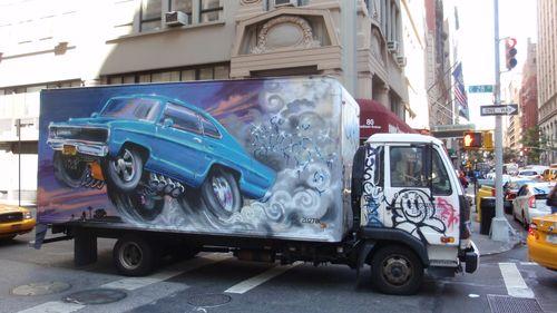 Truck street art