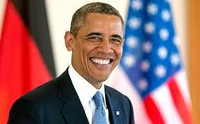 President obama broad smile