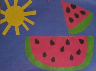 Watermelon and sun