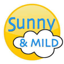 Sunny and mild