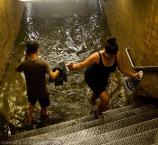 Flooded subway
