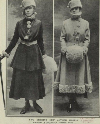 Winter clothing in 1910s
