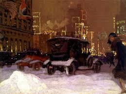 New york city winter scene 1920s