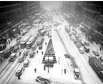 Snow storm before 1950s
