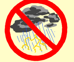 No thunderstorms symbol