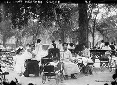 Nannies in park 1910s