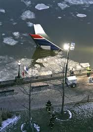 Usairways plane in the icy river