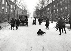 Snowy street in nyc_1923