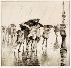 Rainy day in the 1910s