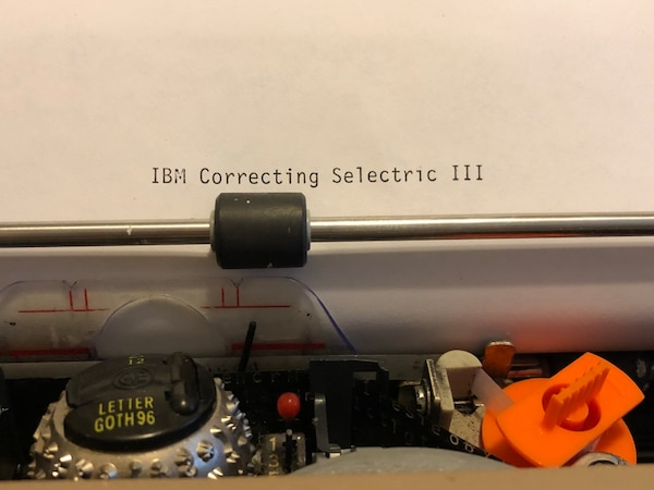 Selectric with correcting tape