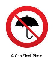 No rain with umbrella