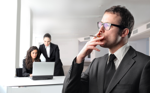 Smoking in the office_shutterstock