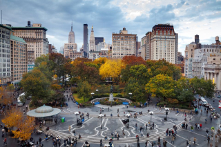 November in union square park nyc