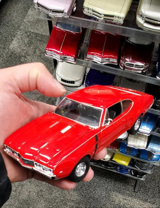 Scale model car red