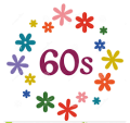 60s with flowers