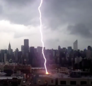 Lightning strike nyc