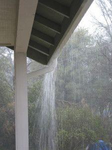 Overflowing rain spout