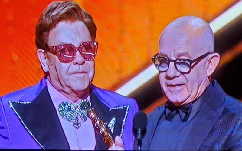 Elton john and bernie taupin at 2020 oscars