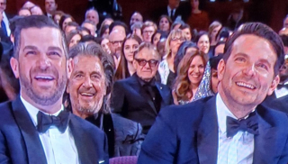 Bradley cooper and mystery man at 2020 oscars