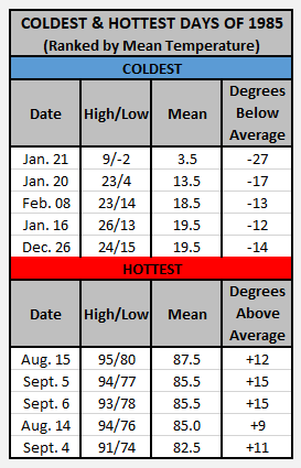 Chart - 1985 hot and cold
