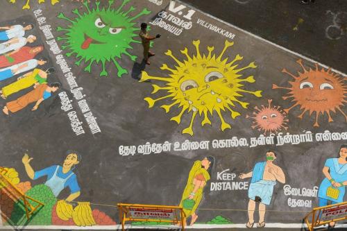 Pandemic street art