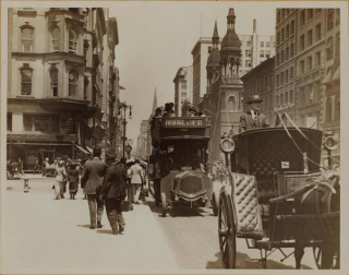 City streets in summer late 1800s