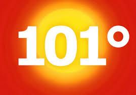 101 degrees