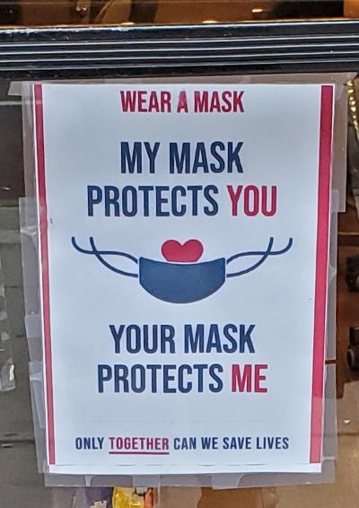 Masksign protect you protect me