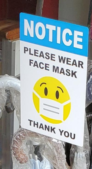 Another smiley face with mask