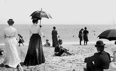 Beach stroll 1900s