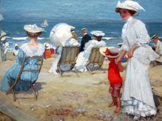 On the beach_charles hoffbauer
