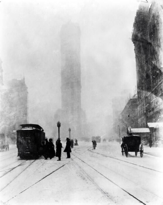 New-york-winter 1900s vintage photography
