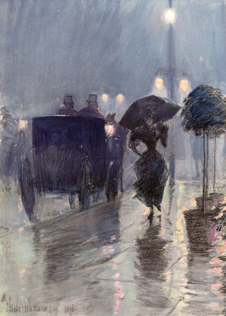 Rainy evening 1890s