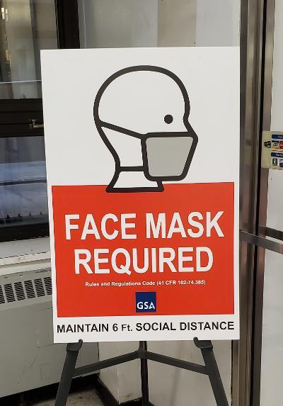 Masksign post office
